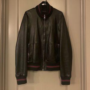 Gucci Men's Leather Jacket